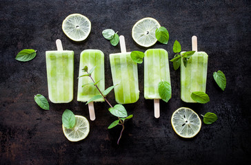 Green juice popsicles
