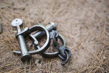 vintage handcuffs