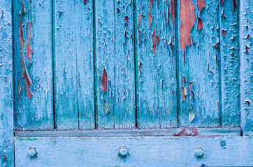Photo sur Aluminium Coquillage Vintage wooden background with peeling paint