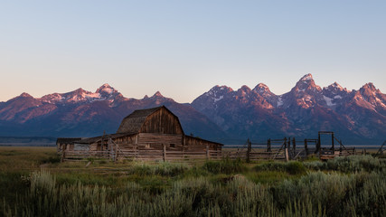 Mormon Row Sunrise at Grand Teton National Park