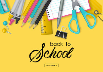 Back to school banner design Wall mural