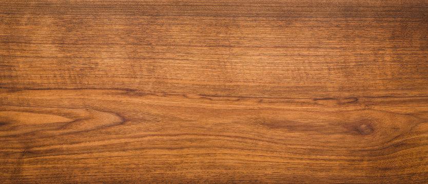 Walnut wood texture. Super long walnut planks texture background.