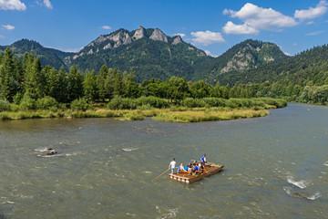 Flossfahrt auf der Dunajec bei Sromowce Niżne; Nationalpark Pieninen