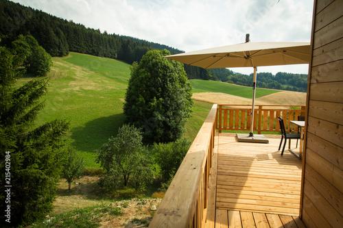 Terrasse de Chalet en bois\