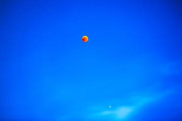 Istanbul, Turkey, 27 July 2018: Lunar Eclipse, Red Moon