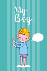 My boy cartoon