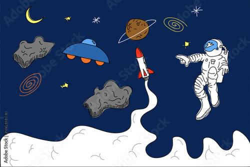Spazio Sfondo Universo Astronauta Esplorazione Immagini E
