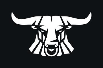 Bull Head Logo Vector mascot