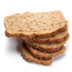 grain bread slices isolated
