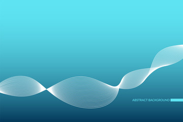 Abstract wave pattern. Blue and white vector background. Infographic illustration for design, business, marketing project, presentation, report, sample, template, decoration, advertisement