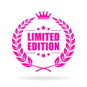 Limited edition laurels vector icon