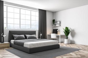 White wall master bedroom corner