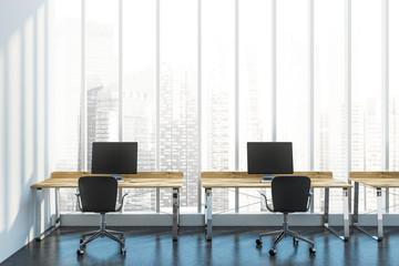 Cityscape company office interior