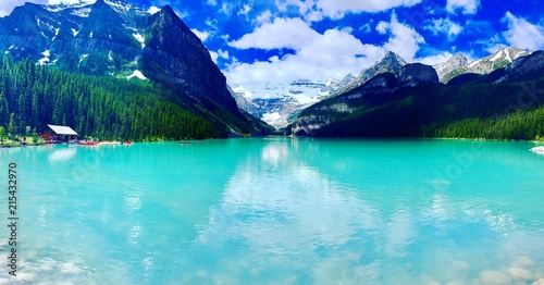 Lac Louise Alberta Canada Stock Photo And Royalty Free Images