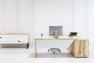 White panel modern office interior