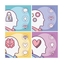 Set of human minds card
