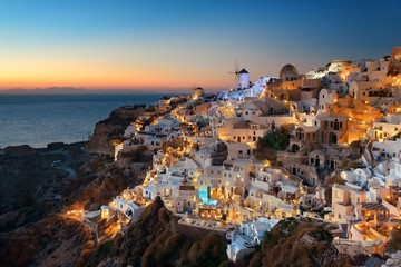 Fotomurales - Santorini skyline night