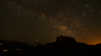 Milky Way over Cathedral Rock, Sedona Arizona