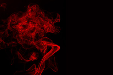 abstract red smoke on black background. fire design