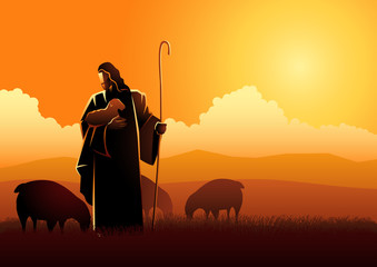 Jesus as a shepherd
