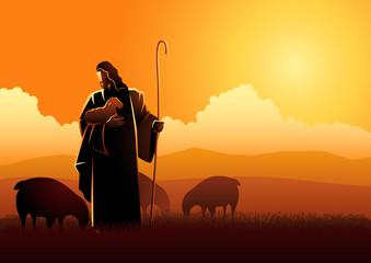 Jesus as a shepherd