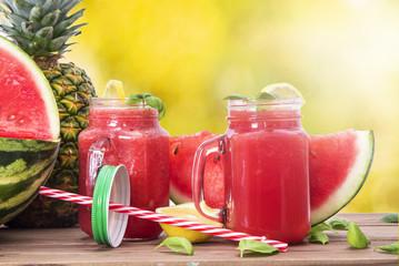 watermelon drink on background