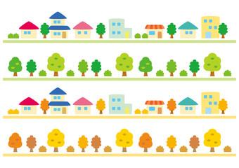 シンプルな町並み