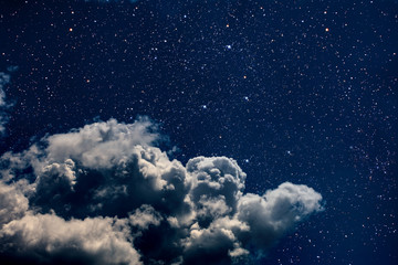 Keuken foto achterwand Nacht backgrounds night sky with stars and moon and clouds