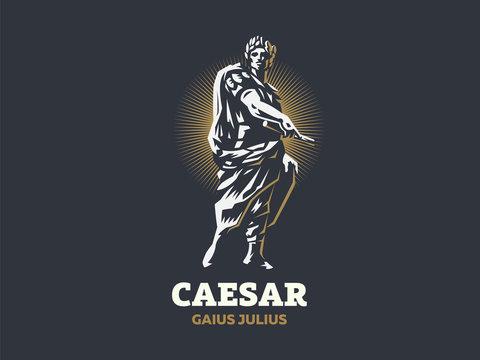 Caesar. Vector emblem.