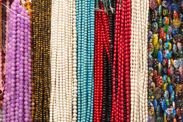 beautiful colorful beads in necklace form