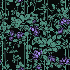 Floral seamless pattern. Flowers roses illustration