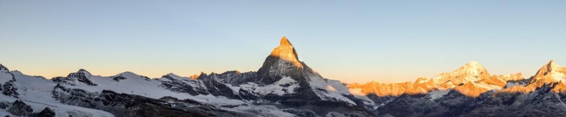 Kanton Bergspitzen bei Zermatt - Matterhorn