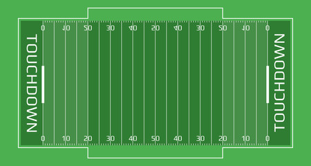 Rugby field vector flat illustrationь