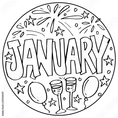 January Coloring Pages For Kids Stock Photo And Royalty Free Images