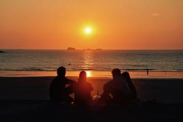 coucher de soleil, saint-malt
