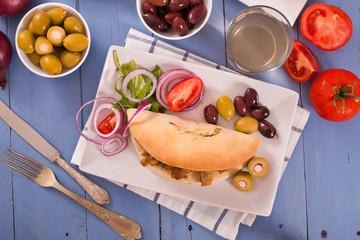 Greek pita bread.