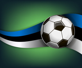 Illustration with soccet ball and flag of Estonia