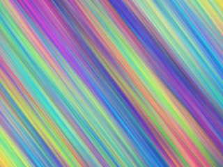 Abstract colorful painted texture. Chaotic rainbow diagonal strokes. Fractal background. Fantasy digital art. 3D rendering.
