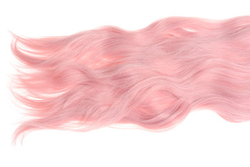 wavy pink hair extension