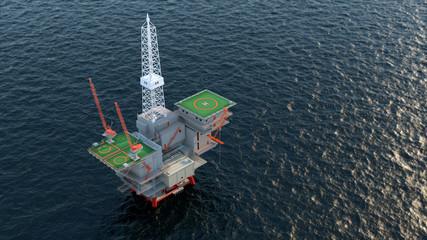 oil platform in ocean