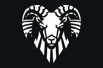 RAM mascot logo illustration
