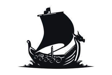 Drakkar sign. Viking transport ship