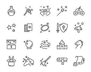 set of fantasy vector icons
