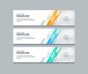 abstract web banner design template backgrounds
