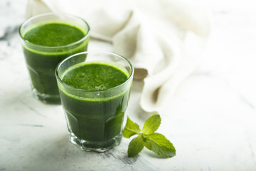 Healthy spinach and kale drink