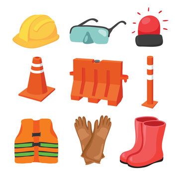 safety equipment vector collection design