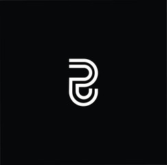 Outstanding professional elegant trendy awesome artistic black and white color PJ JP initial based Alphabet icon logo.