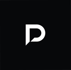 Outstanding professional elegant trendy awesome artistic black and white color PD DP initial based Alphabet icon logo.