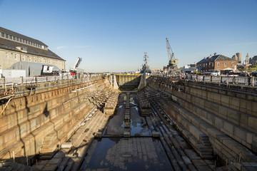 shipyard drydock in Boston