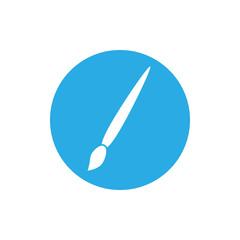 Brush icon. Vector illustration, flat design.